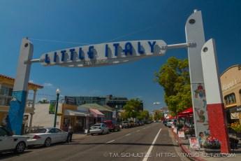 Little Italy Neighborhood Road Sign