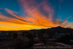 Fishers Peak Sunrise from Trinidad