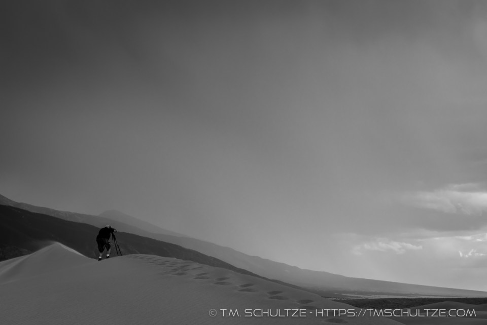 Jeremy Long Photographing Great Sand Dunes by T.M. Schultze