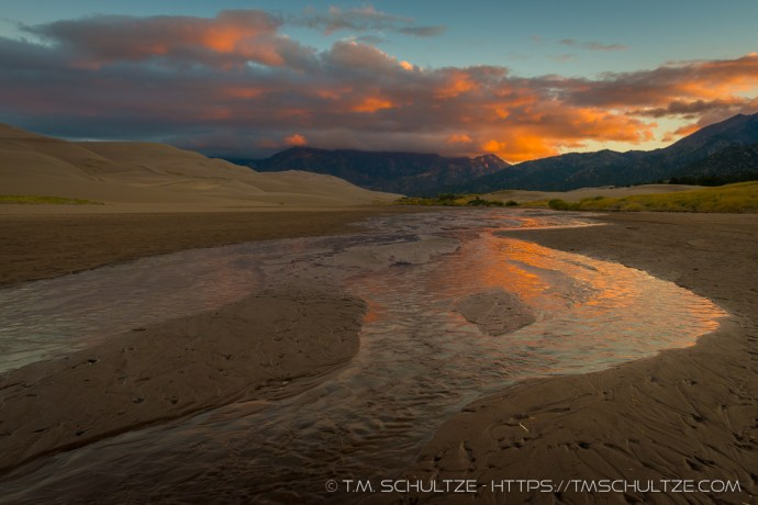 Sunrise Over Medano Creek by T.M. Schultze