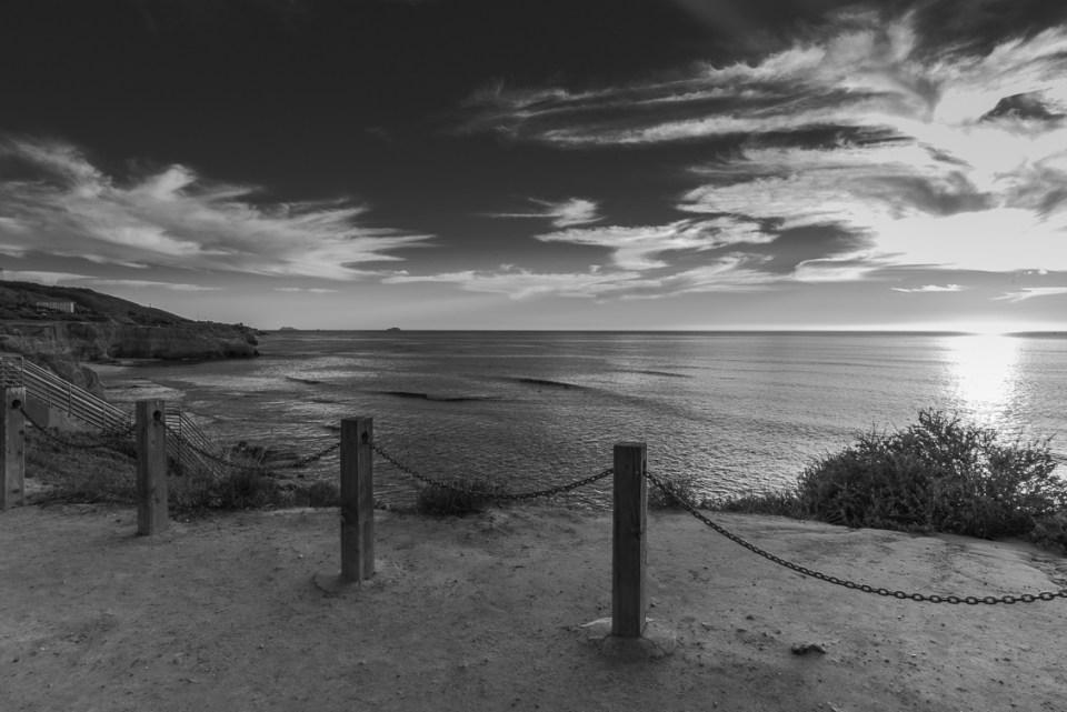 Sunset Cliffs Overlooks and Coronado Islands by T.M. Schultze