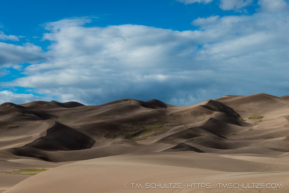 Great Sand Dunes Shadows by T.M. Schultze