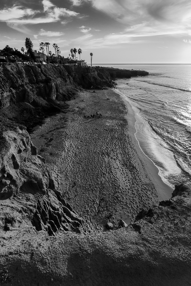 No Surf Beach, Black and White by T.M. Schultze