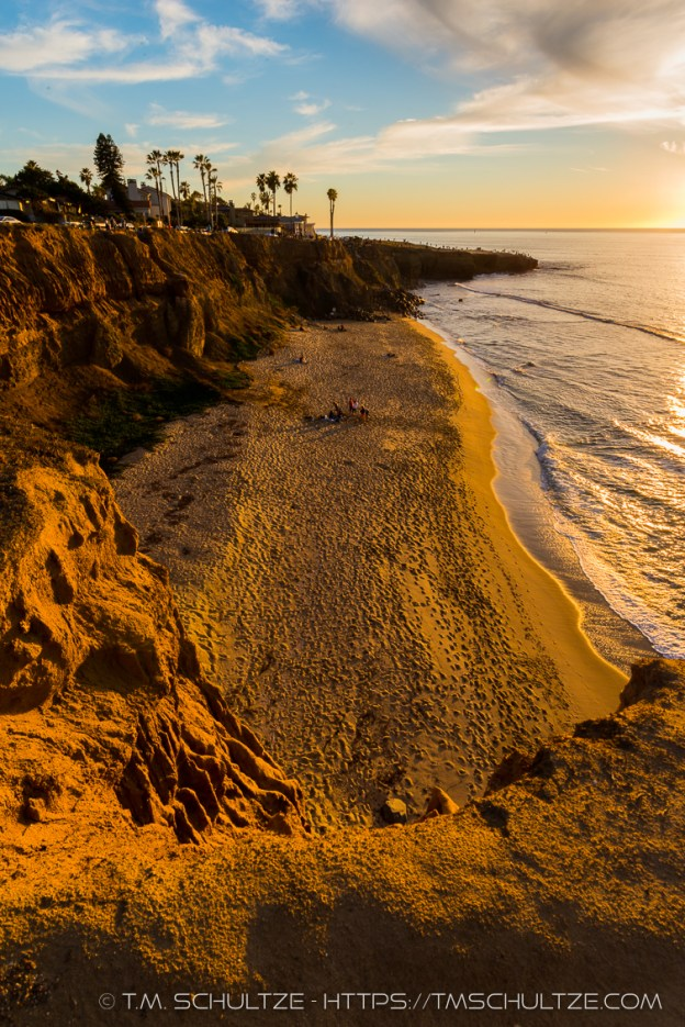 No Surf Beach Overlook, Sunset, by T.M. Schultze