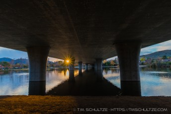 Sunset Under The Mast Blvd Bridge