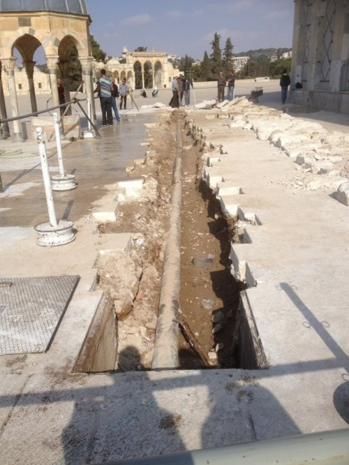 A Water Pipe Trench North-West the Dome of the Rock