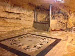 One of several Opus Sectile Pavings that were exposed by removing carpets in the Dome of the Rock