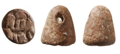 A rare cone-shaped stone seal dating to the 10th century BCE – the time of the Biblical kings, David & Solomon. This is the first seal of its kind found in Jerusalem