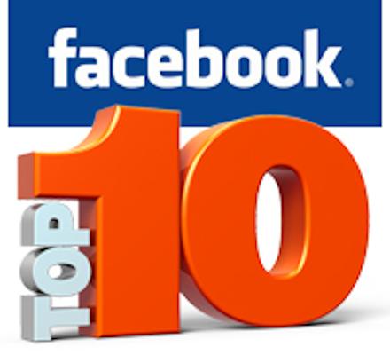 """Facebook top 10"" icon"