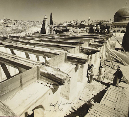 IAA photo of the exposed Temple beams
