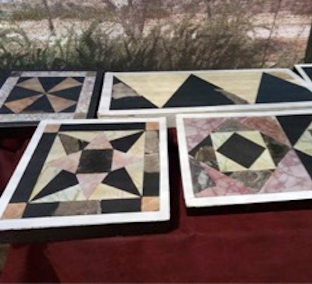 reconstructed Opus Sectile tiles from the Temple Mount