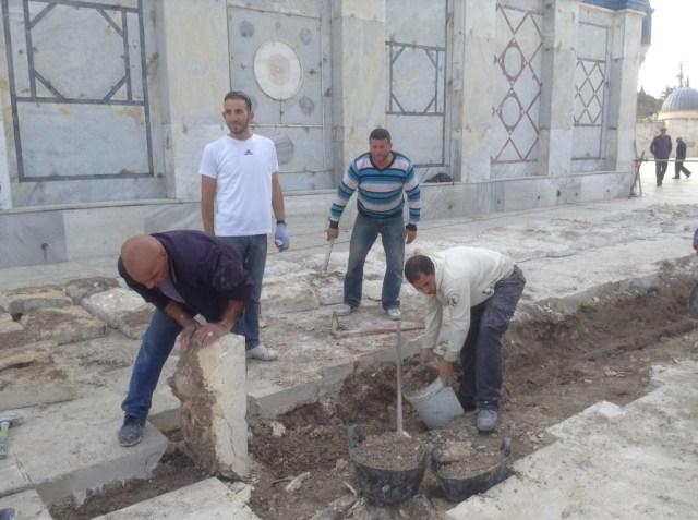 חפירה סמוך לכיפת הסלע