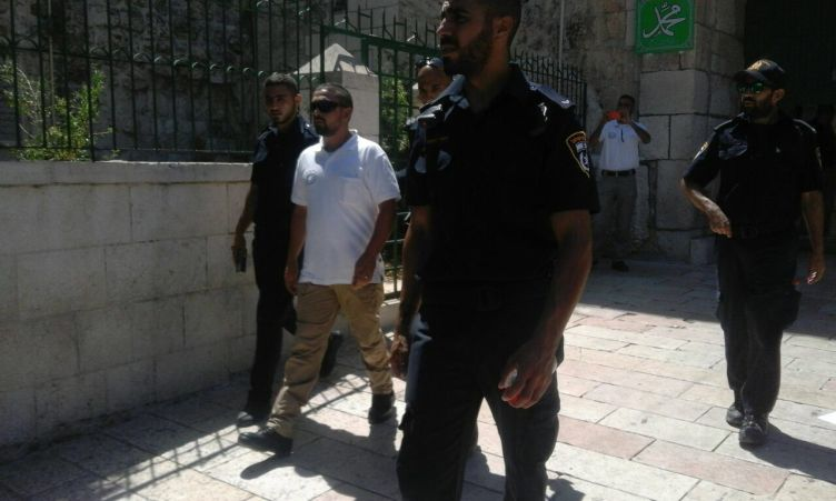אחד מאנשי הוואקף שנעצרו לאחר האירוע