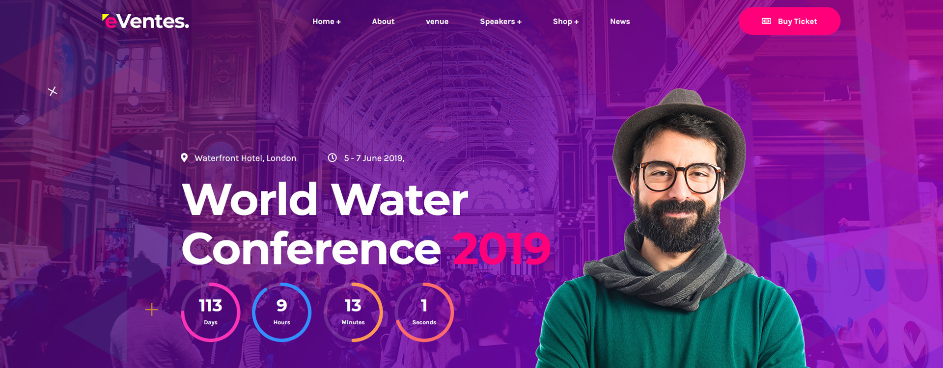Eventes - Event Conference HTML5 Website Template
