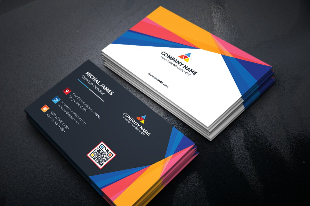 Geometric Colorful Business Card Template