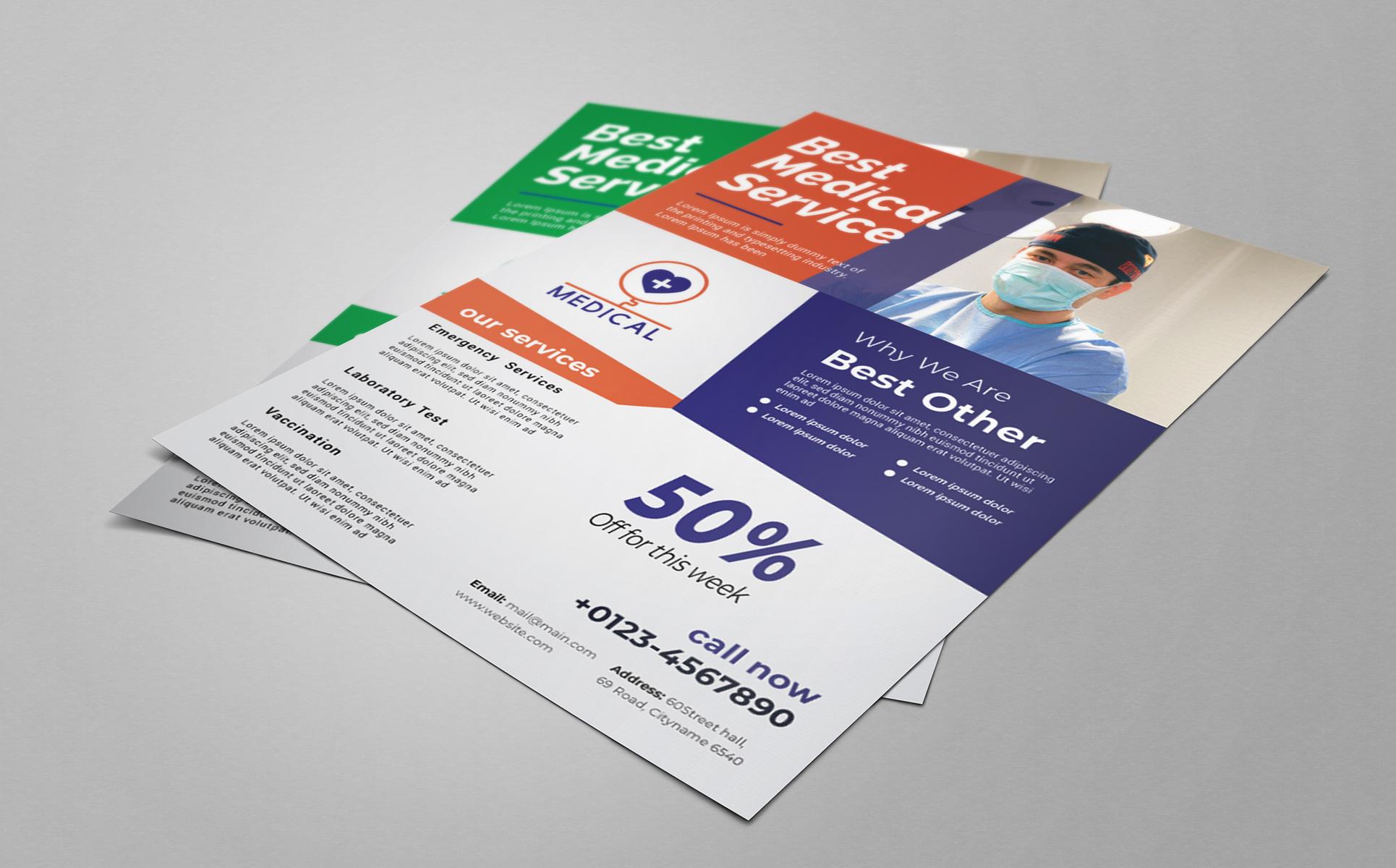 Medical A4 Flyer Design