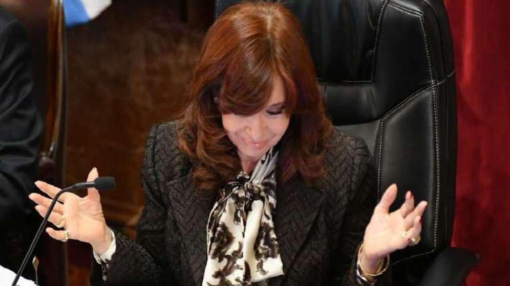 La vicepresidenta Cristina Kirchner en el Senado. Foto: NA