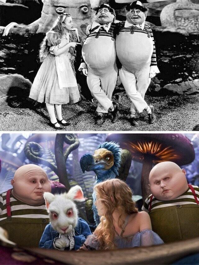 """""""آلیس در سرزمین عجایب"""" 1933 و 2010"""