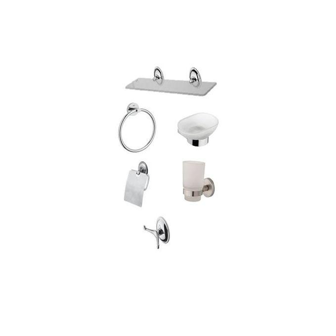 accessoire salle de bain series de 6 pieces solo