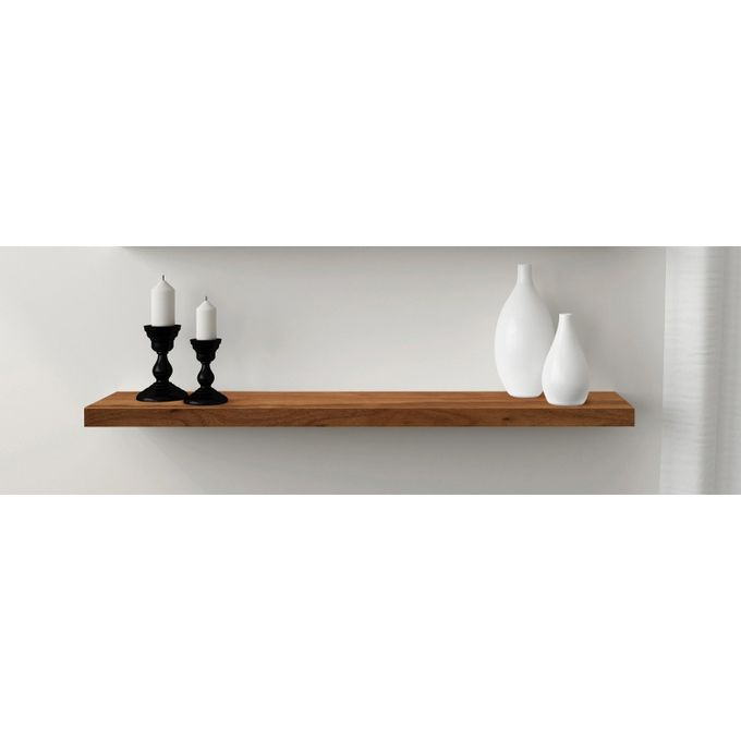etagere murale a fixations invisibles 75 24 4 cm noyer