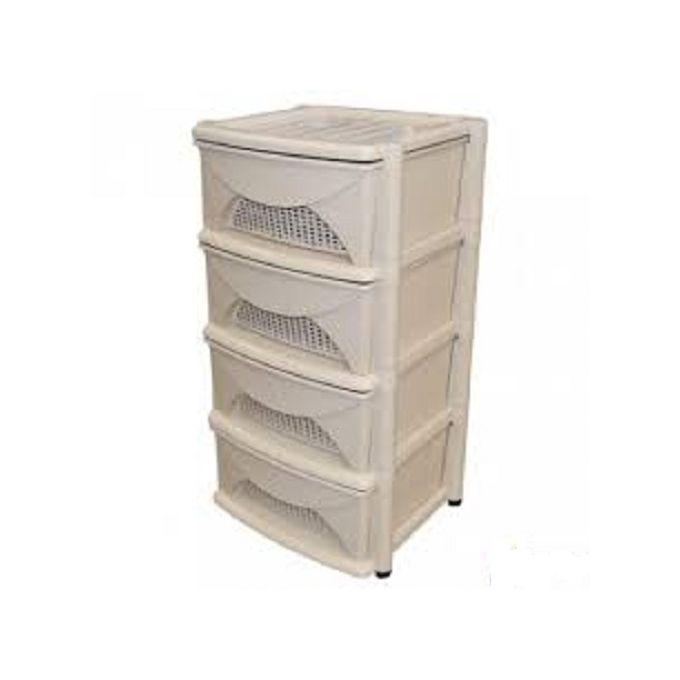 armoire rym en plastique 4 tiroirs grege