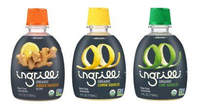 Ingrilli™ Organic Ginger Squeeze Blend, Ingrilli™ Organic Lemon Squeeze and Ingrilli™ Organic Lime Squeeze