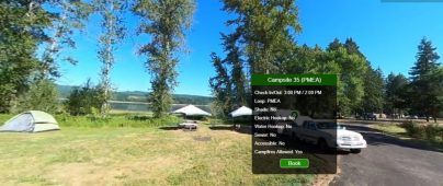 Screen Capture of new Campground Virtual Tour Experience