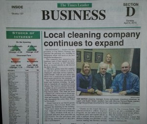 Local cleaning company continues to expand.