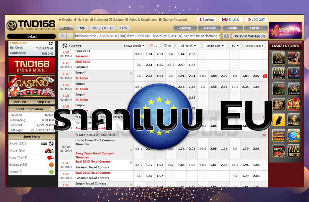 ดูราคาบอล EU แทงบอลออนไลน์ เว็บบอลออนไลน์