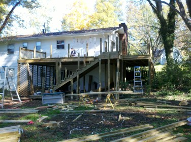 building the new deck