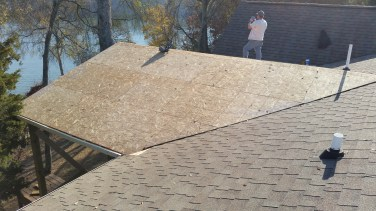 roof after plywood is installed