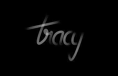 'Tracy' Custom typeface variant one