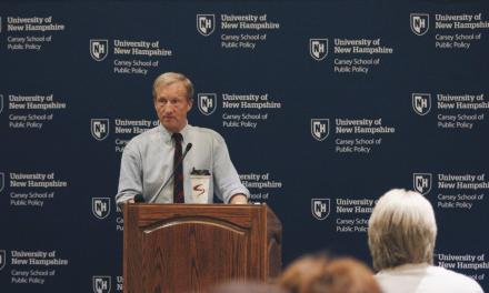 Steyer leads Carsey School policy talk and mini-rally
