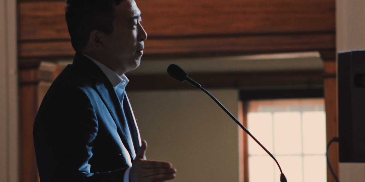 Yang seeks out youth vote at UNH rally