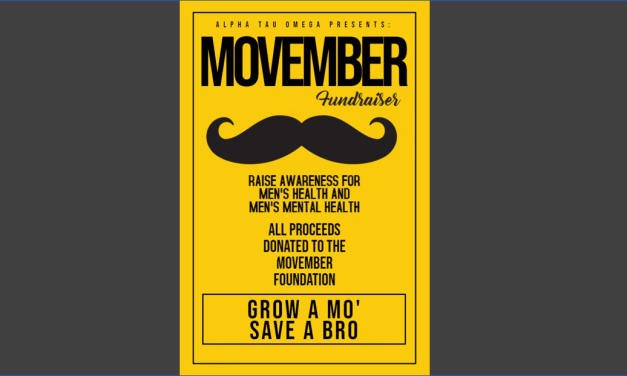 Alpha Tau Omega's Movember Philanthropy and Participation