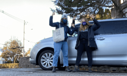 "UNH seniors bring students to polls in ""vote-mobile"""