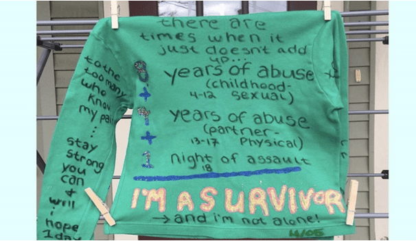 The Clothesline Project Temporarily Displayed at UNH
