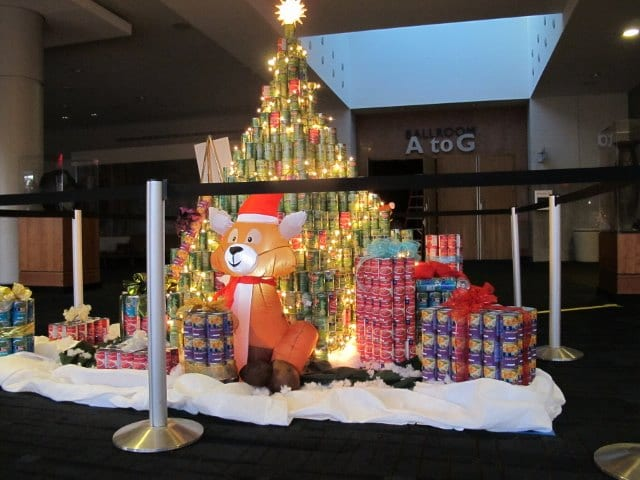 Holiday Canstruction Display Combines Creativity And