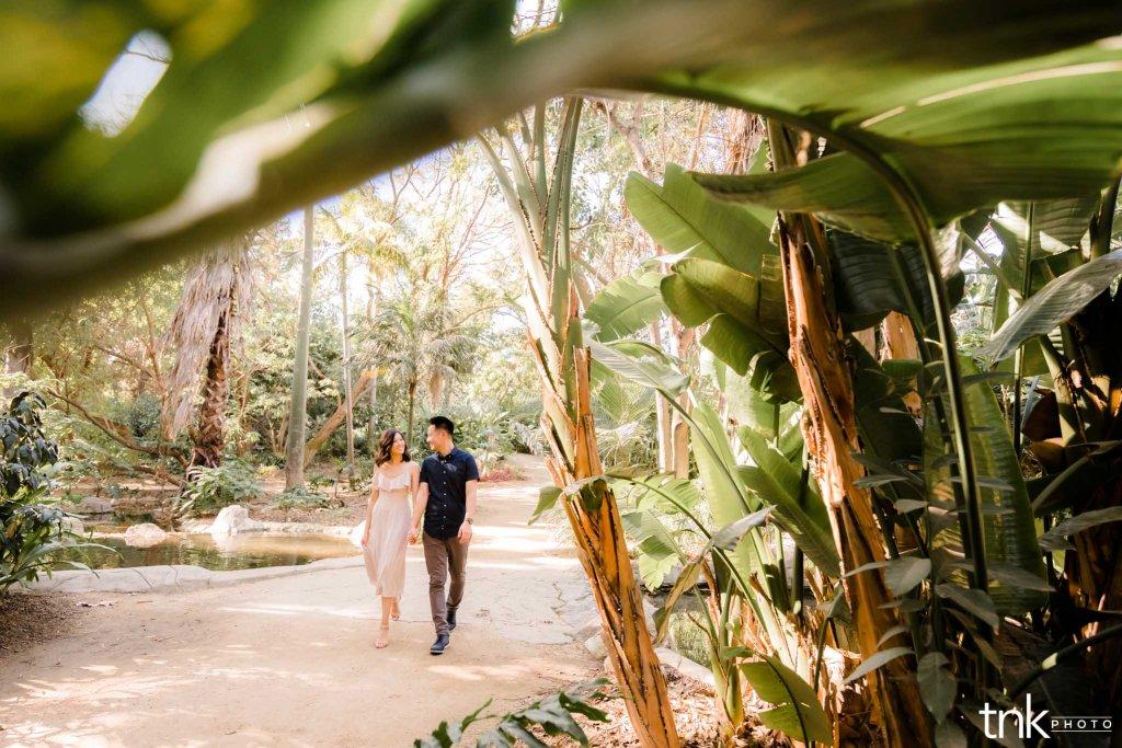 los angeles county arboretum engagement session