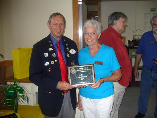 Kathy Burrow 2009 Lion of the Year