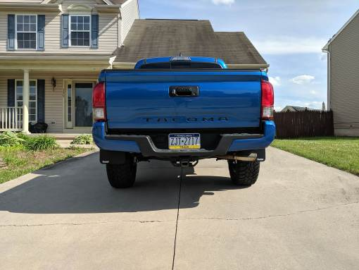 2016 Toyota Tacoma Rear T N M F Mudflaps