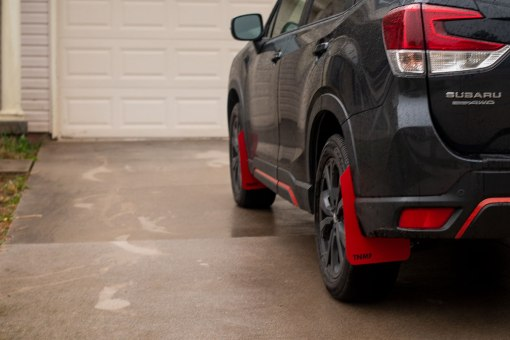 2019 Forester T N M F mudflap driver rear close