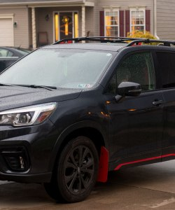 2019 Forester T N M F mudflap driver side