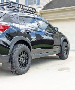 T N M F 2018+ Subaru Crosstrek mudflaps passenger side