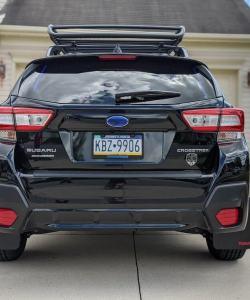 T N M F 2018+ Subaru Crosstrek mudflaps rearview