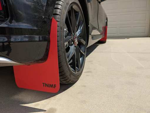 T N M F second gen Hyundai Veloster mudflaps rear passenger view