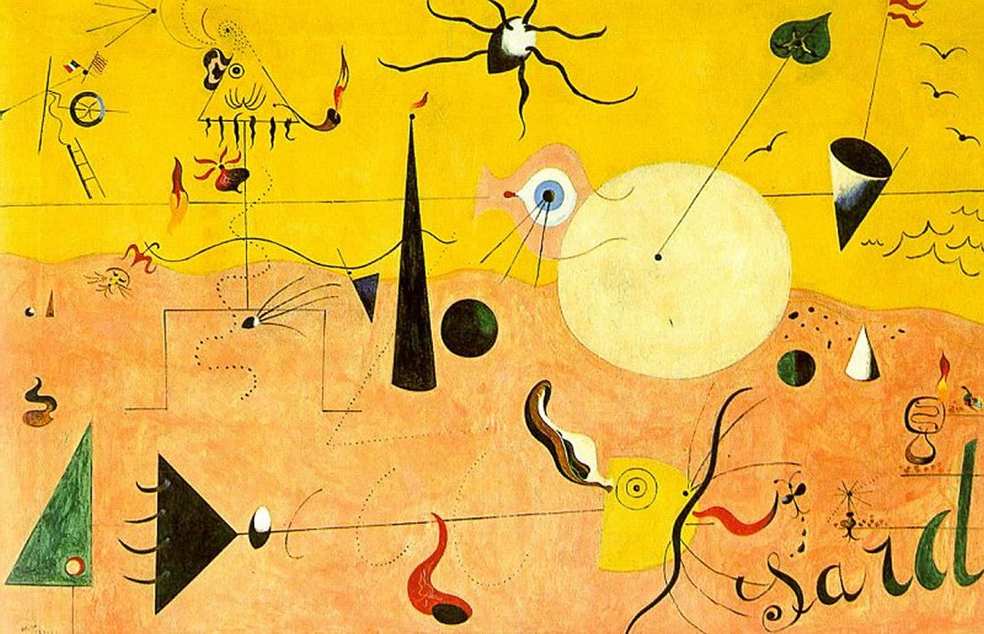 Painting by Joan Miró: Catalan Landscape