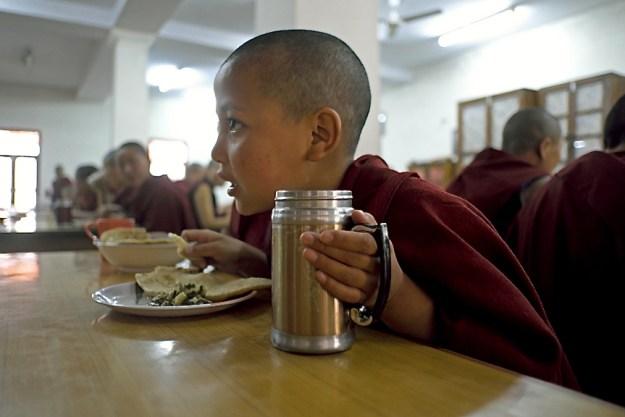 Young Nun Eating