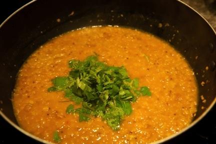 cooked dal Tibetan Nuns Project recipe