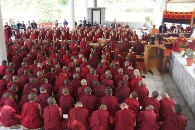 Tibetan Buddhist nuns at Dolma Ling Nunnery debate 2013 Tibetan Nuns Project